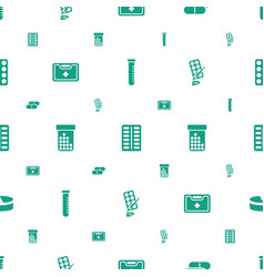 Medication icons pattern seamless white background vector