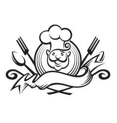 Monochrome chef design vector