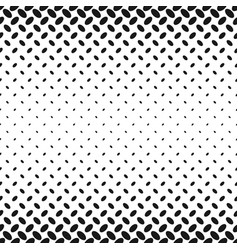 monochrome halftone ellipse pattern background vector image