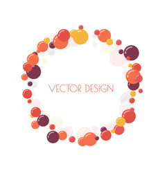 multicolored round banner vector image