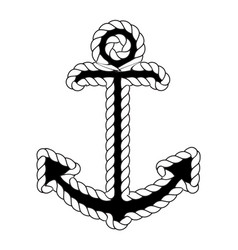 Nautical anchor logo icon maritime sea ocean boat vector