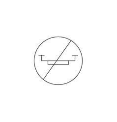 No drone area icon vector