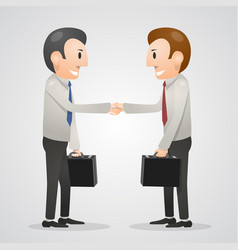 office man shaking hands vector image
