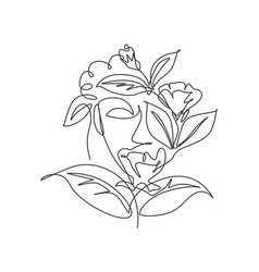 one continuous line drawing minimalist beauty vector image