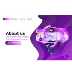 operator job developer website workplace process vector image