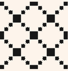 Ornamental ethnic motif with squares vector