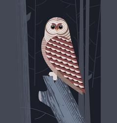 Owl before hunt vector