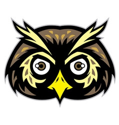 Owl head mascot vector