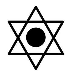 Pentagram solid icon six pointed star vector
