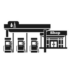 petrol station with shop icon simple style vector image