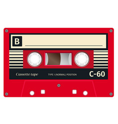 plastic audio cassette tape vector image