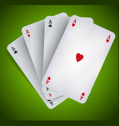 poker aces - casino gambling vector image