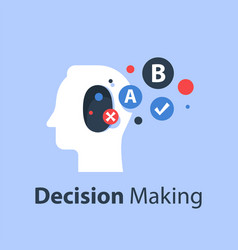 Psychology choice decision making vector