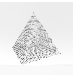 Pyramid Connection structure 3D vector