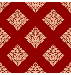 Red and beige arabesque pattern vector image