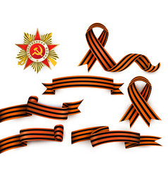 Russian georgian ribbons order of patriotic war vector