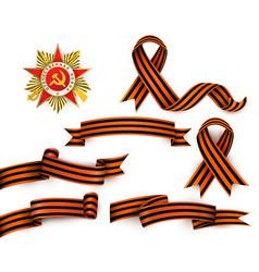 russian georgian ribbons order of patriotic war vector image