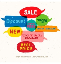 Sale Interactive multicolored speech bubbles vector image