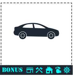 sedan icon flat vector image
