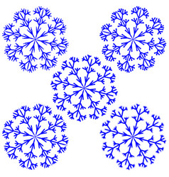 snowflake sign set 2212 vector image