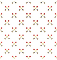 Two arrows LGBT pattern cartoon style vector
