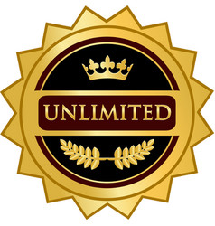 Unlimited gold icon vector