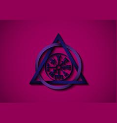Vegvisir viking compass norse mythology symbol vector