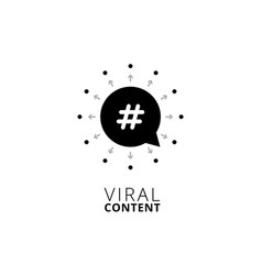 viral content concept design vector image