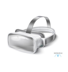 Virtual reality headset vr mask mock up vector