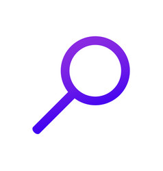 Web icon magnifier purple gradient search sign vector