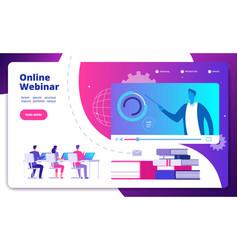 webinar concept online webinars seminar speaker vector image