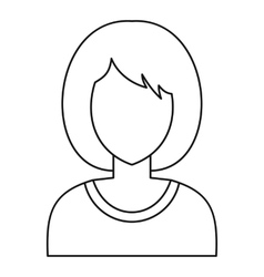Woman avatar profile icon outline style vector image