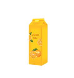 Yellow orange juice template vector