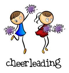 Cheerleaders dancing vector image vector image