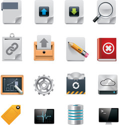 file server administration icon set vector image vector image