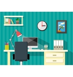 modern home or business workspace desk papers vector image