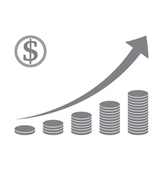 Stacked coin graph vector image vector image