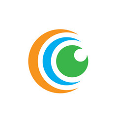 abstract circle union logo image vector image