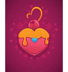 cake looks like a heart vector image vector image