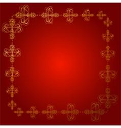 fancy border vector image vector image