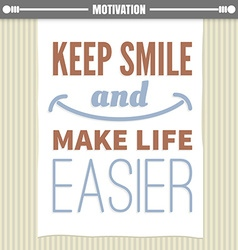 Motivation poster vector image