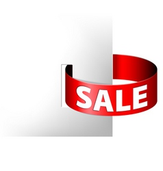 sale red paper ring vector image vector image