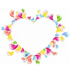 splash heart vector image vector image