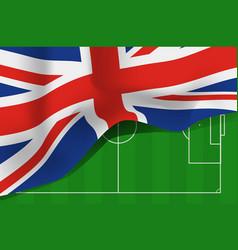great britain united kingdom flag vector image