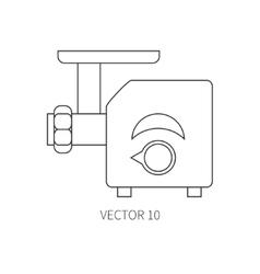 Line flat kitchenware icons - meat grinder vector image vector image
