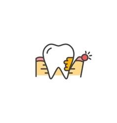 Periodontitis icon vector image