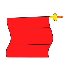 red cape of bullfighter icon cartoon vector image