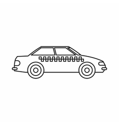 Taxi icon outline style vector image vector image