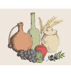 art vegetables5 vector image vector image