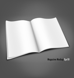 Blank Magazine Mockup Template vector image vector image